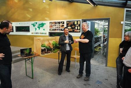 Op bezoek bij het internationale Schildpadden Kweekcentrum bij de Dierentuin in Münster, met Elmar Meier. (© Foto: Henk Zwartepoorte )